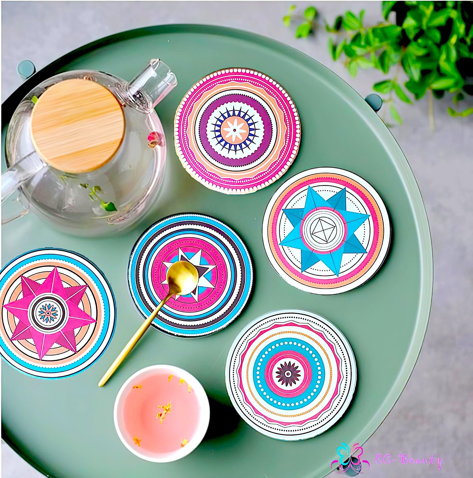 北歐風格 陶瓷吸水 防滑杯墊