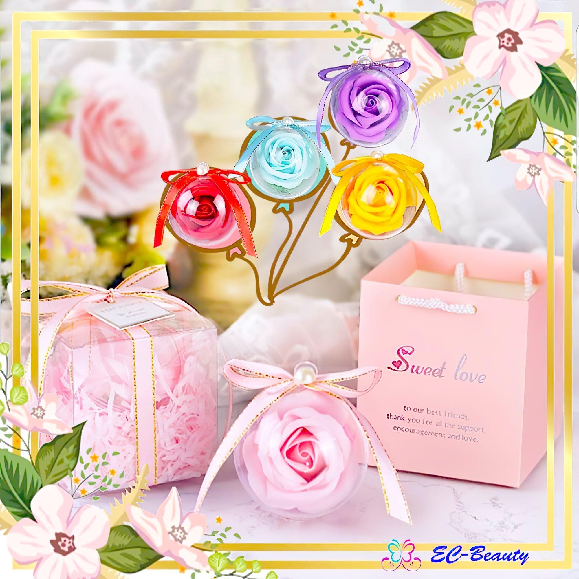 5色 香皂花 禮物盒